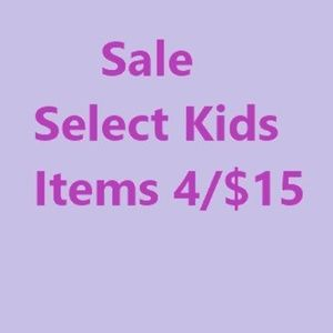 * ⭐️Select kids and baby items are 4 for $15⭐️